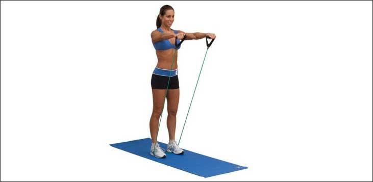 Упражнения с резинкой для фитнеса: правила выполнения, для