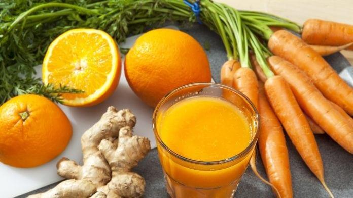 Морковный сок и имбирь