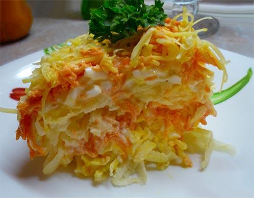 Слоёный салат по-французски